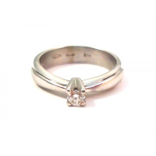 SOLITAIRE RING DAMEN WEIGOLD 18 KT MIT DIAMANTEN