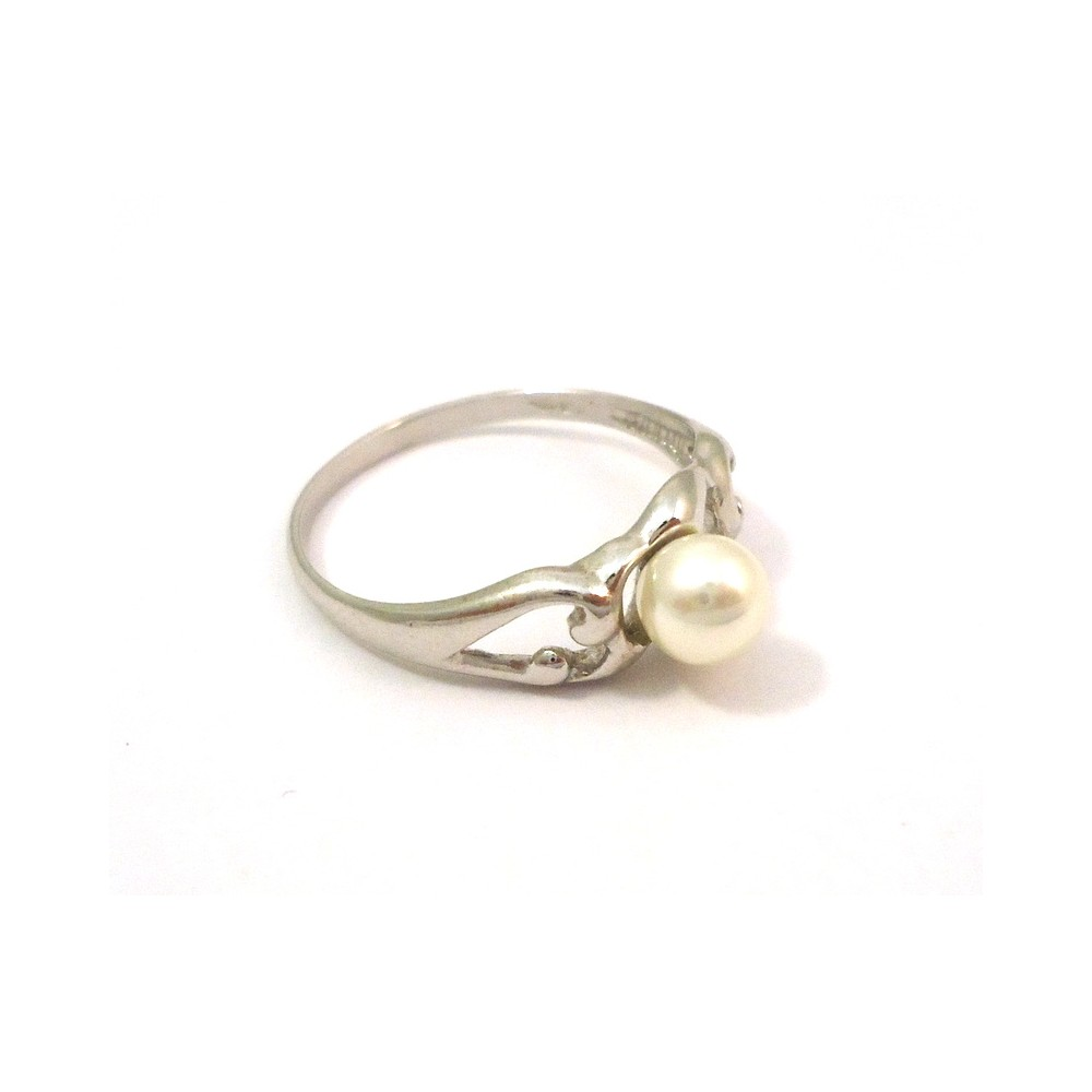 RING DAMEN WEIGOLD 18 KT MIT WEIE PERLE