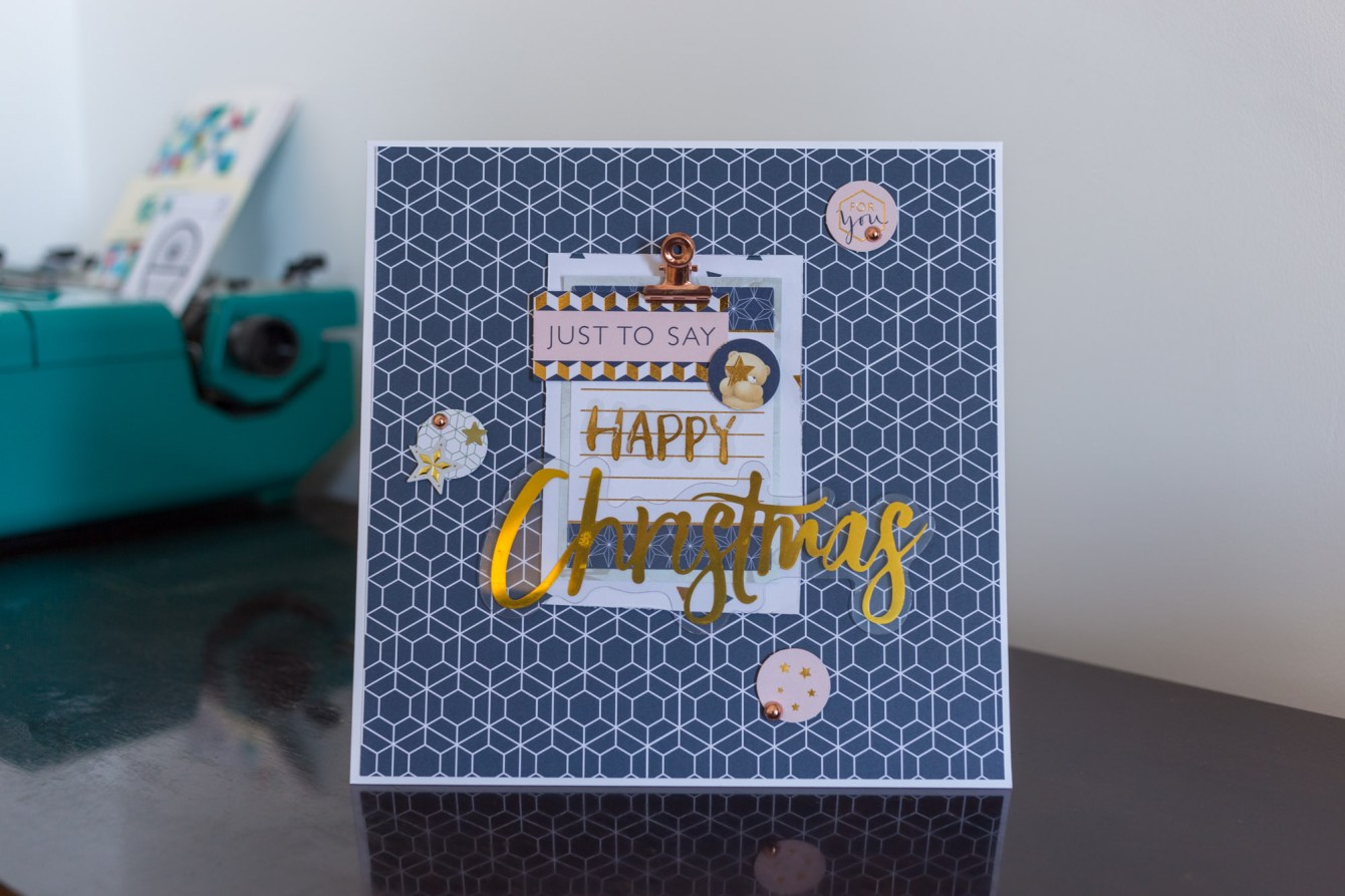Giorgia Rossini for Docrafts - unconventional Christmas card