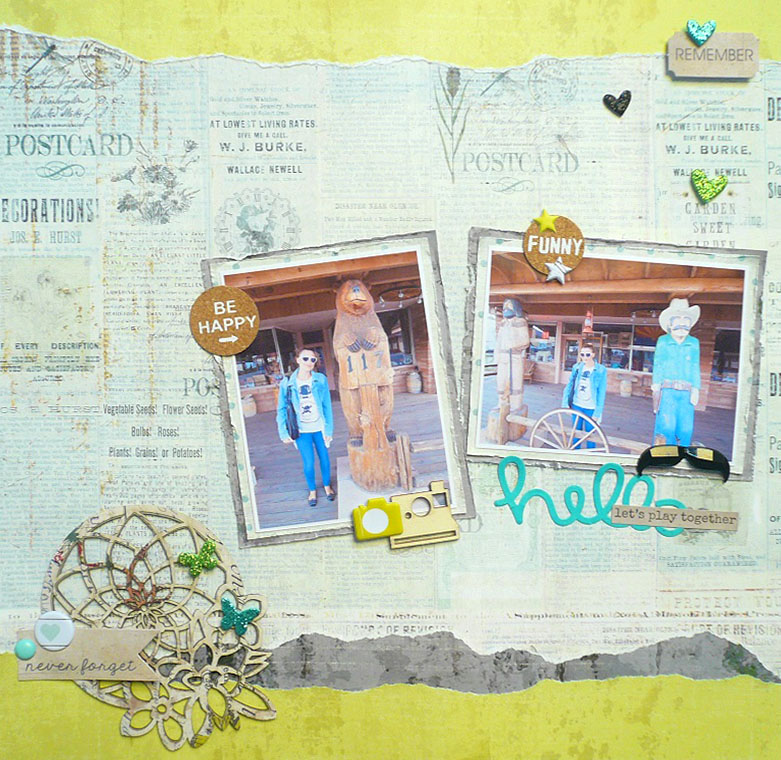 Giorgia Rossini for FabScraps HELLO LET'S PLAY TOGETHER layout