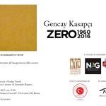 Gencay KasapçI Zero 1960 - 2016  Roma