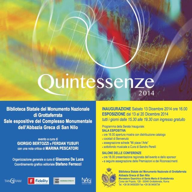 Quintessenze 2014 Invito Giorgio Bertozzi Neoartgallery