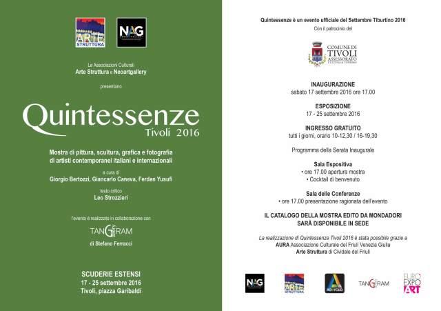 Quintessenze 2016 Tivoli Giorgio Bertozzi Neoartgallery