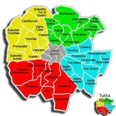 La mappa per gli studenti di Roma