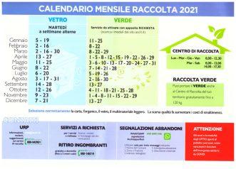 ecocalendario raccolta rifiuti gennaio 2021_retro