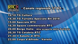 Oggi su RTC Telecalabria – Programmazione del 16 febbraio 2019