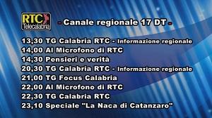 Oggi su RTC Telecalabria – Programmazione del 19 aprile 2019