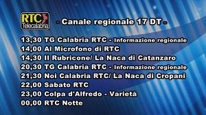 Oggi su RTC Telecalabria – Programmazione del 20 aprile 2019