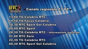 Oggi su RTC Telecalabria – Programmazione del 23 maggio 2019