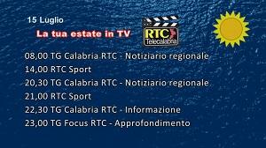 IN TV SU RTC – Mercoledì 15 Luglio