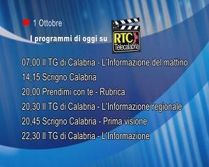 IN TV SU RTC – Giovedì 1 Ottobre