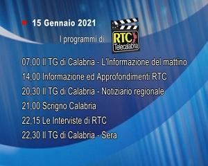 IN TV SU RTC – Venerdì 15 Gennaio