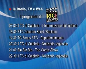 In Radio, TV e Web su RTC – Programmi di Mercoledì 16 Giugno