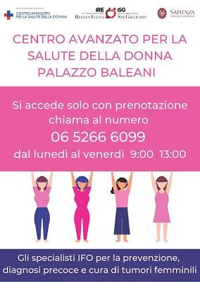 Centro Avanzato per la Salute della Donna: specialisti IFO al servizio della popolazione femminile