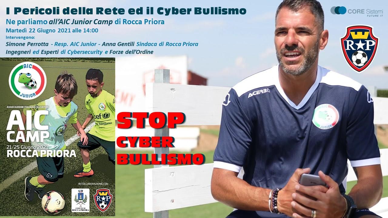 """Rocca Priora, giornata """" Stop al CyberBullismo"""" promossa dalla Associazione Italiana Calciatori."""