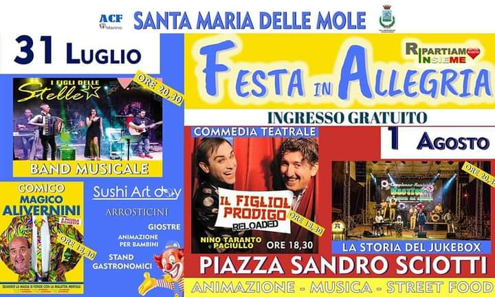 """Santa Maria delle Mole, grande successo per la """"Festa in Allegria"""""""