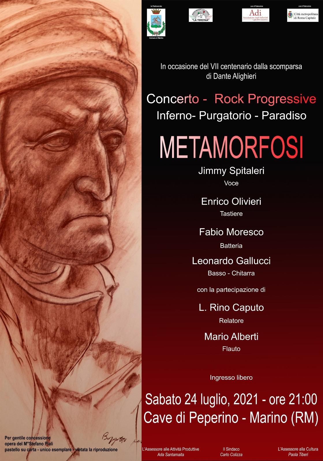 """Marino, concerto gruppo Metamorfosi per concludere il progetto """"Dante e il percorso del desiderio"""""""