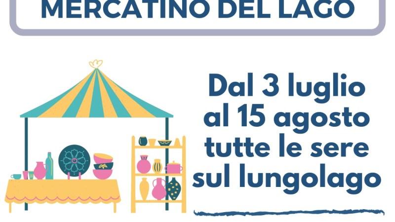 Castel Gandolfo, da oggi 3 Luglio, torna il mercatino sul lungolago