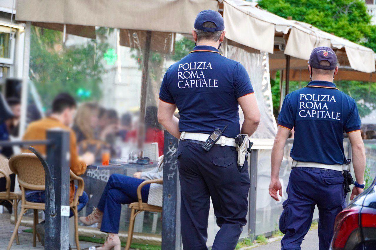 Roma, Polizia Locale controlli movida: sanzionati due noti locali per mancanza rispetto norme anti covid