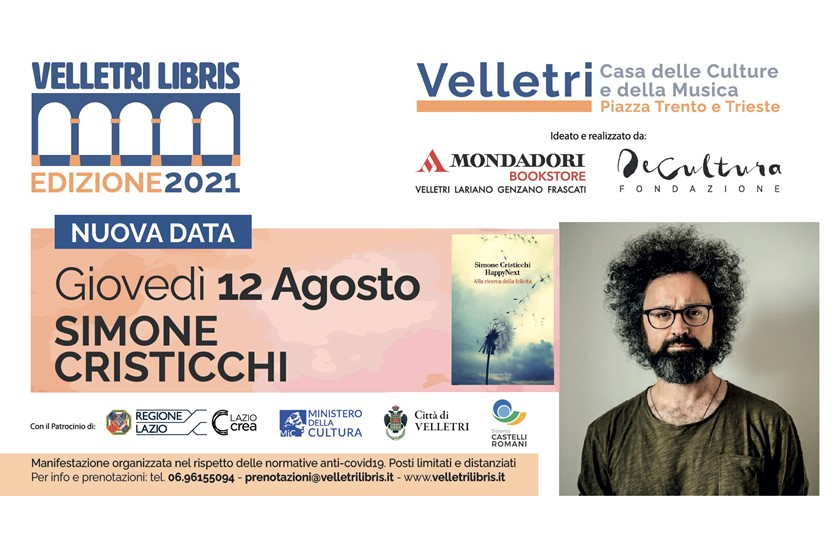"""Velletri Libris"", Simone Cristicchi attesissimo ospite"