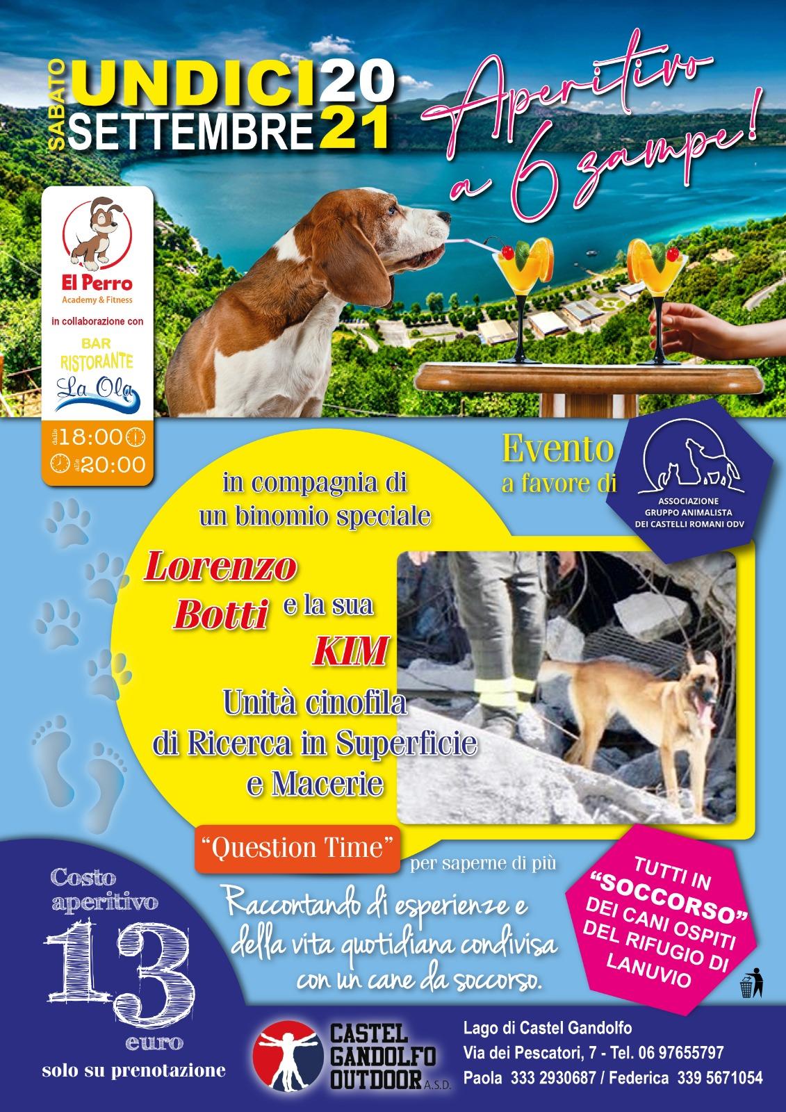 """Castel Gandolfo, al lago l'evento del Gruppo Animalista Castelli Romani """"cani speciali"""", in soccorso dei cani meno fortunati"""