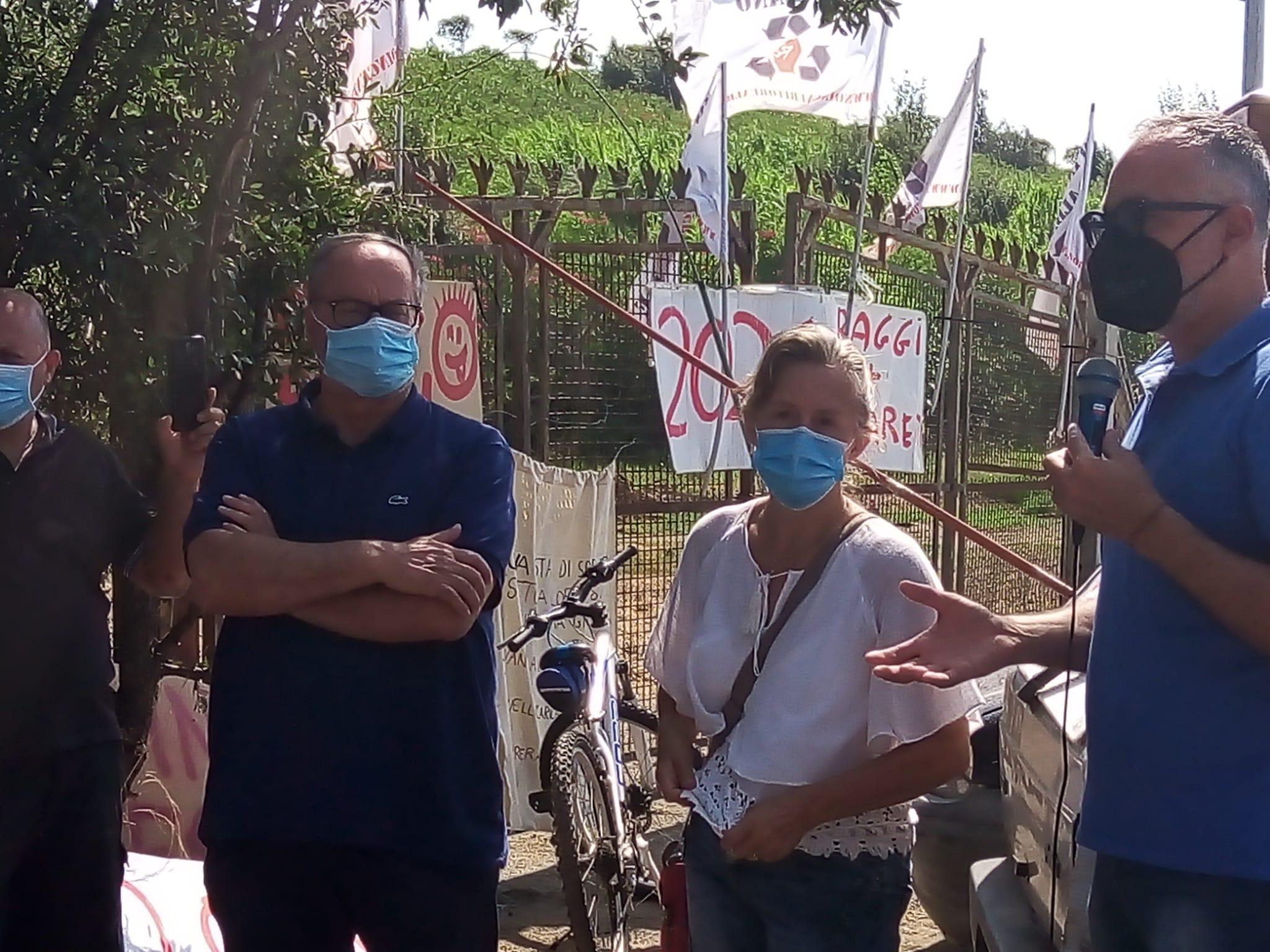 Discarica Roncigliano, aggiornamenti sulla situazione del sit-in