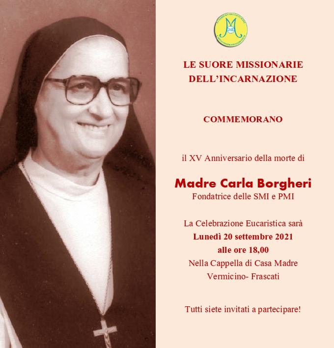Vermicino (Frascati), XV anniversario della morte di Madre Carla Borgheri