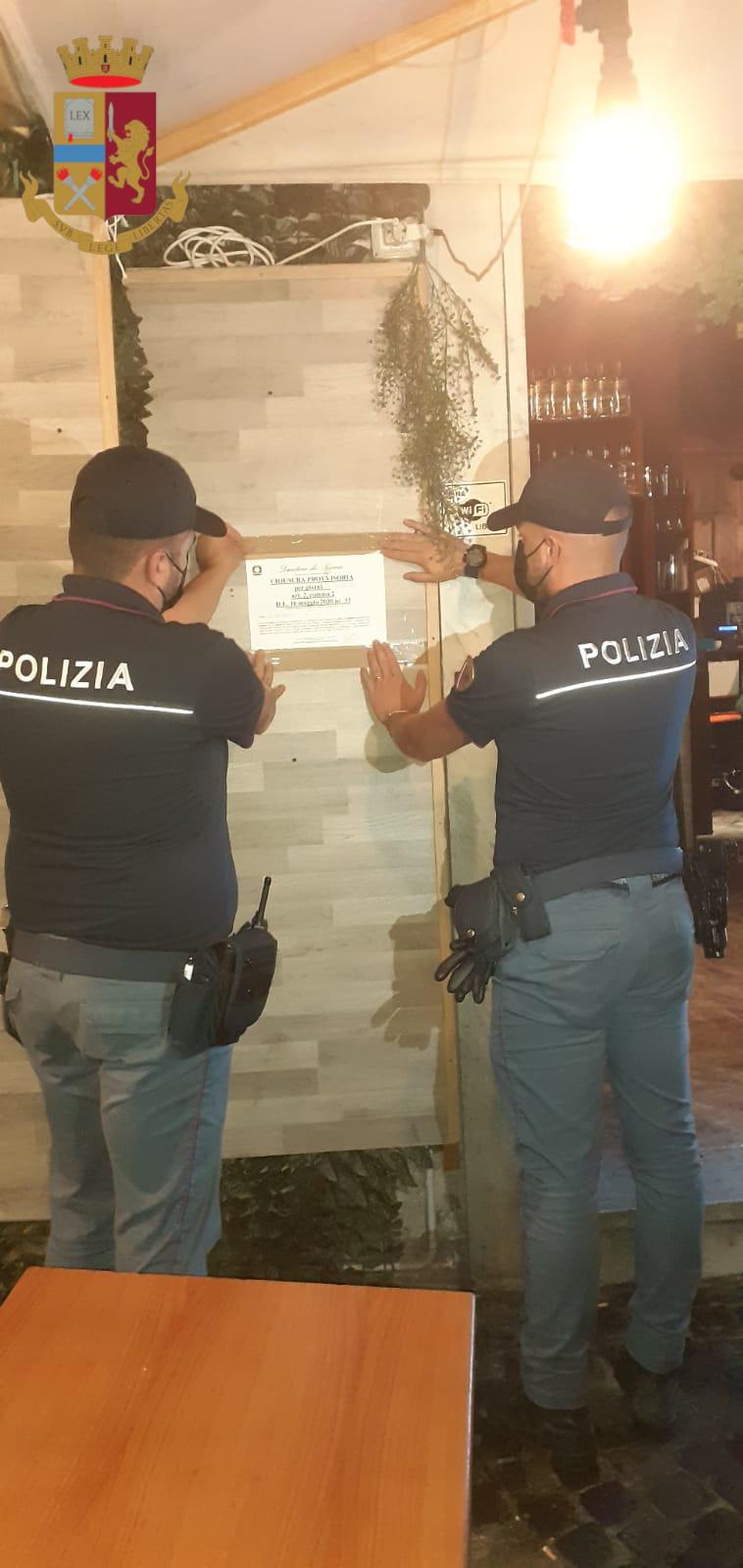 Roma, controlli amministrativi, sanzionati 2 locali e  applicata la sospensione dell'attività per 5 giorni