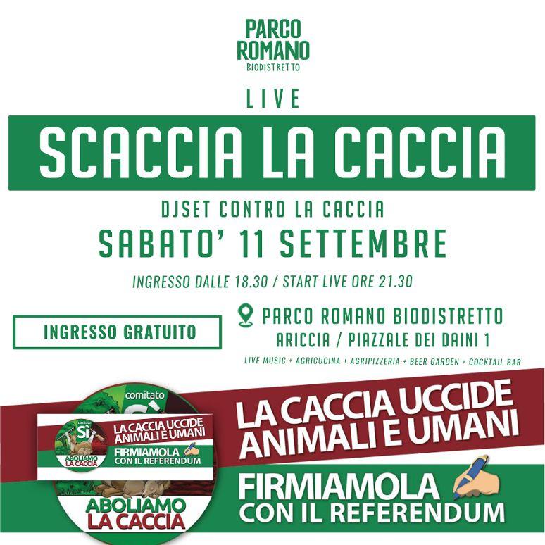 Ariccia, giornata per la raccolta firme per il referendum sull'abolizione della caccia al Parco Romano Biodistretto di Montegentile