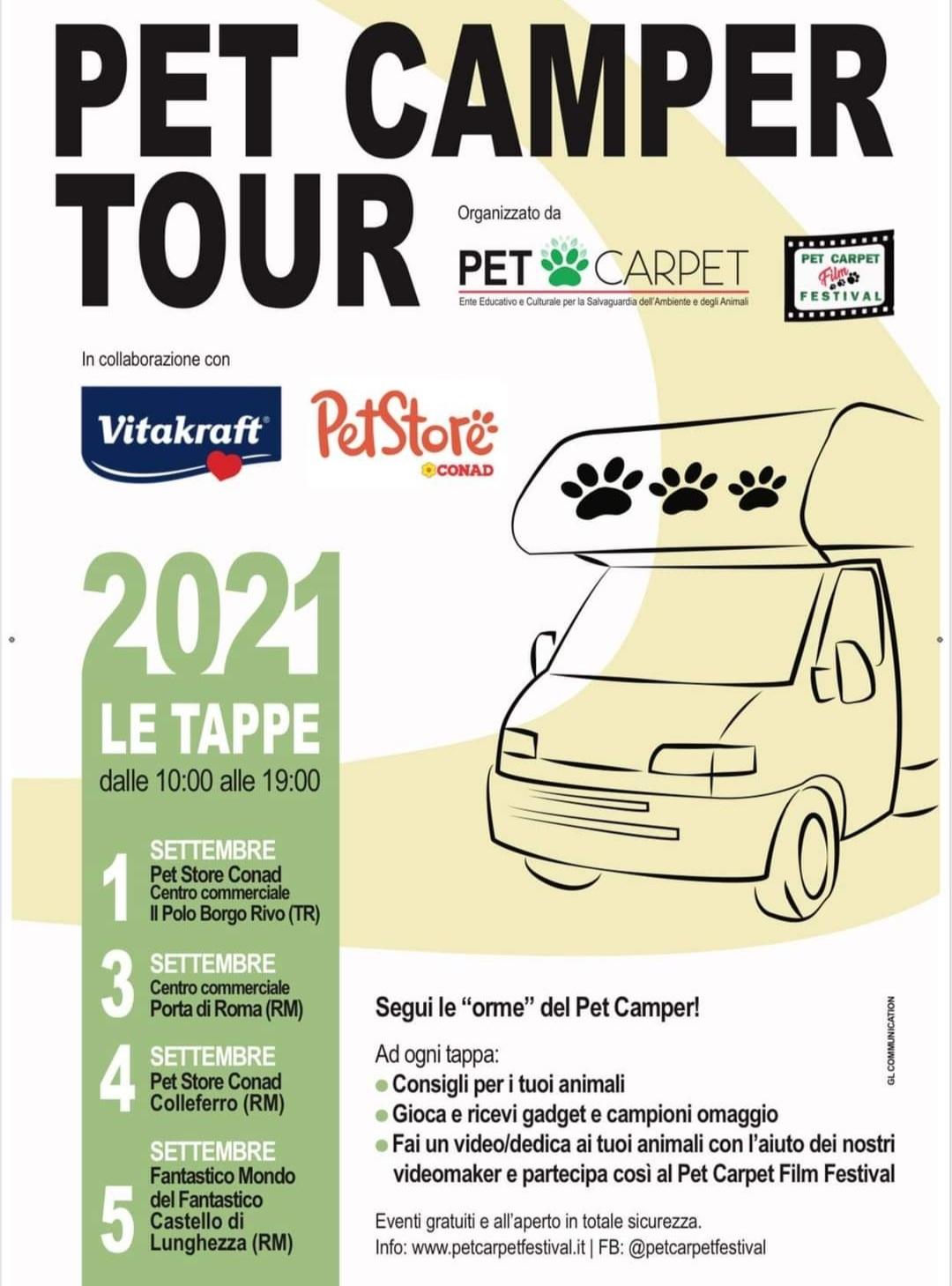 Animali, le tappe laziali del Pet Camper Tour, dove trionfa l'amore per gli amici a quattro zampe
