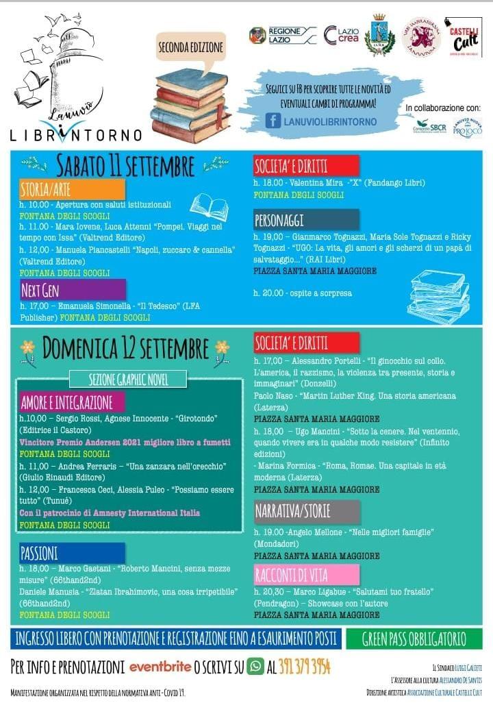 """Lanuvio: al via, nel week-end, la seconda edizione della rassegna """"Librintorno"""""""