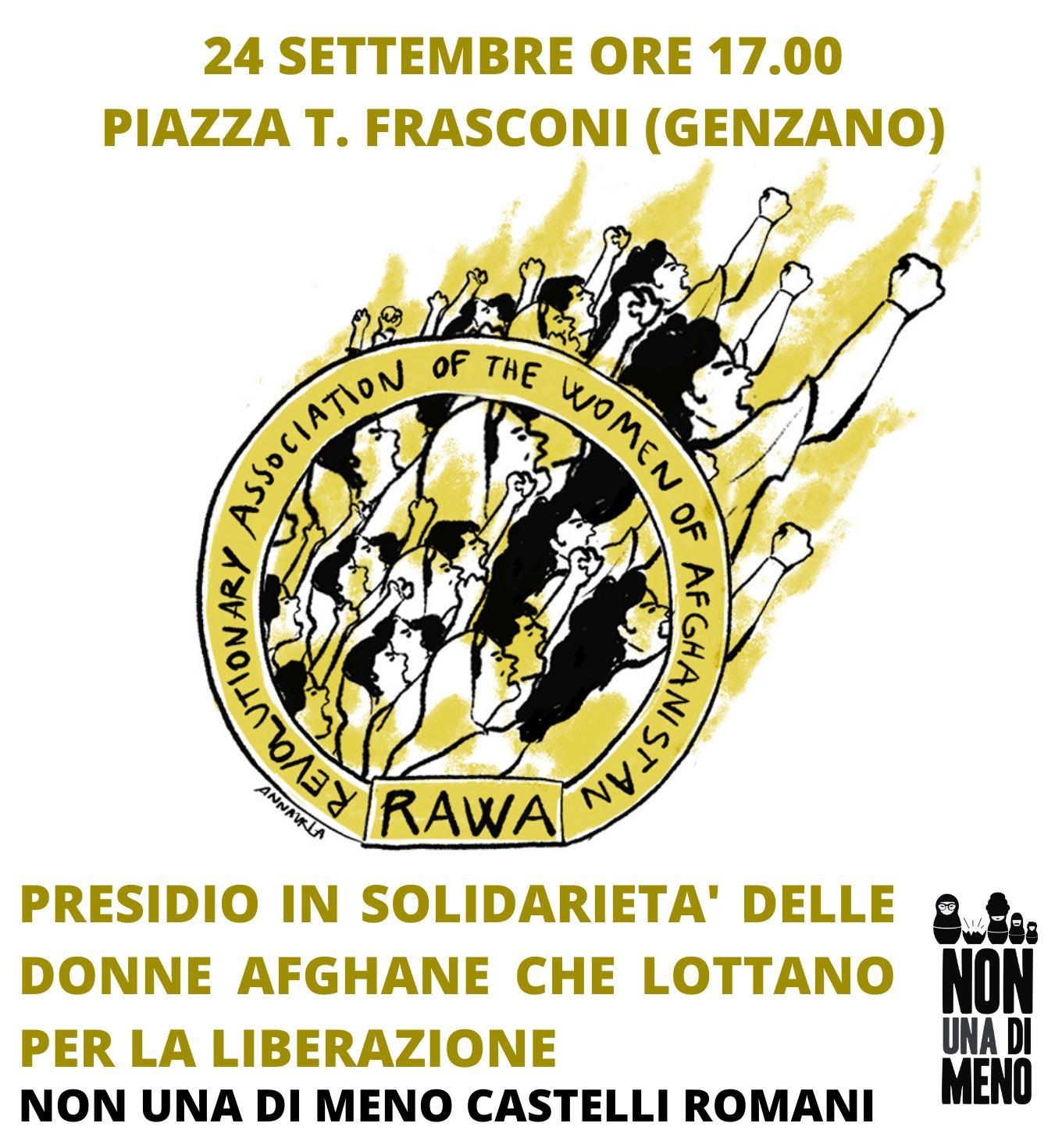 Genzano: Venerdì 24 il presidio di NUDM Castelli Romani in solidarietà con le donne afghane. Ecco il comunicato