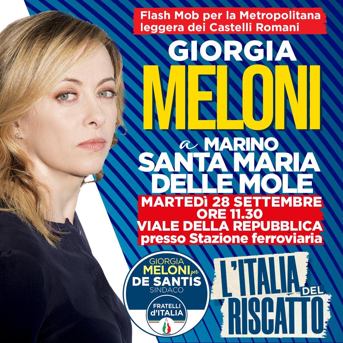 """Marino, Silvestroni(FdI): """"Con Meloni e De Santis per flashmob su metropolitana leggera dei Castelli Romani"""""""