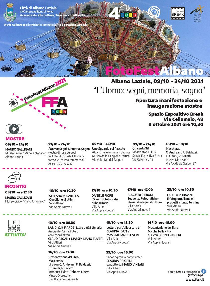 Albano, parte sabato 9 fino al 24 ottobre, il FOTOFESTALBANO organizzato dal Foto Club Albano