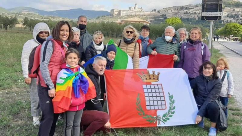 Grottaferrata, la delegazione grottaferrarese ha partecipato alla Marcia per la Pace Perugia-Assisi