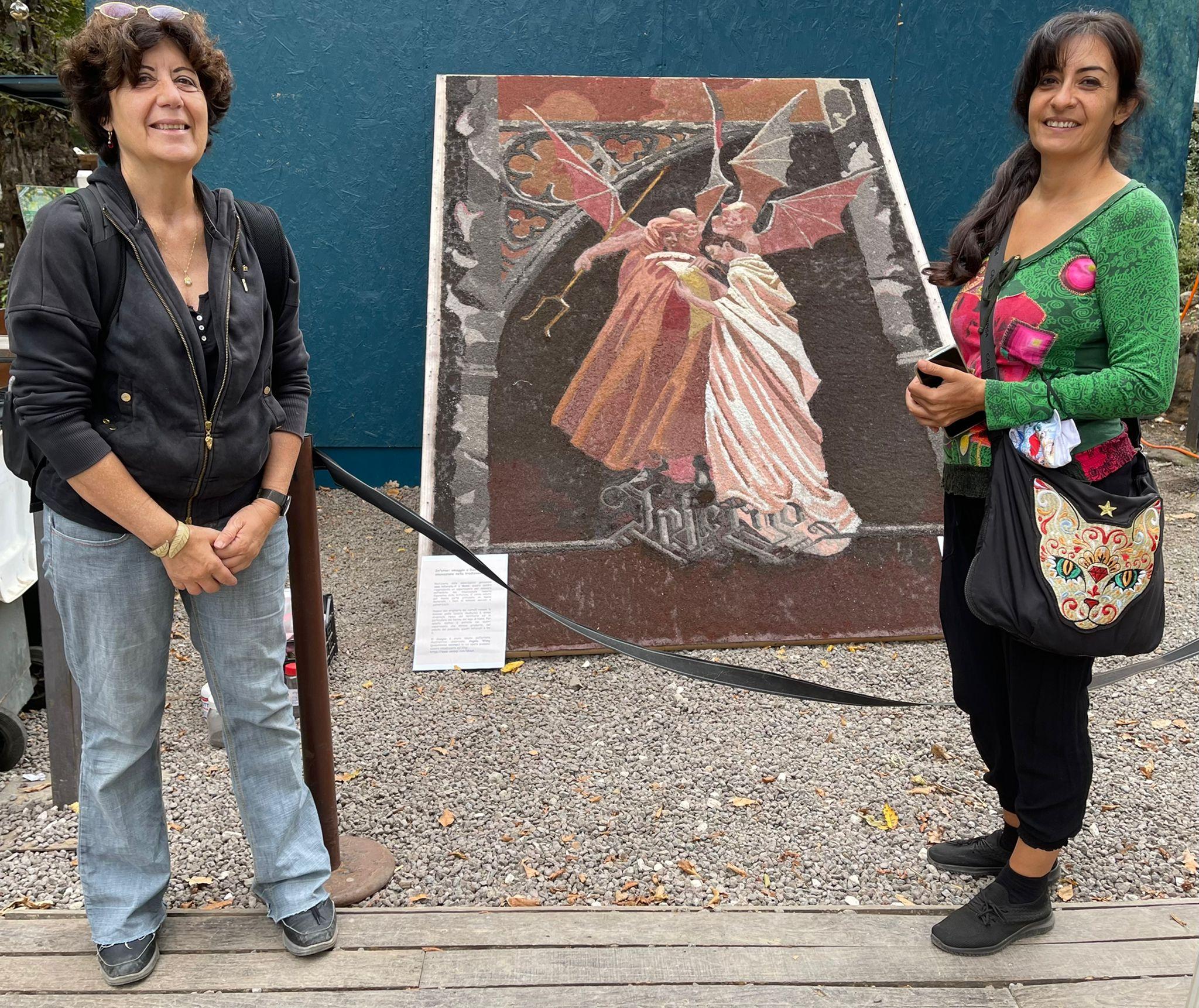 Ariccia, già pronto il quadro dedicato a Dante per l'evento Foresta Verde di domani.
