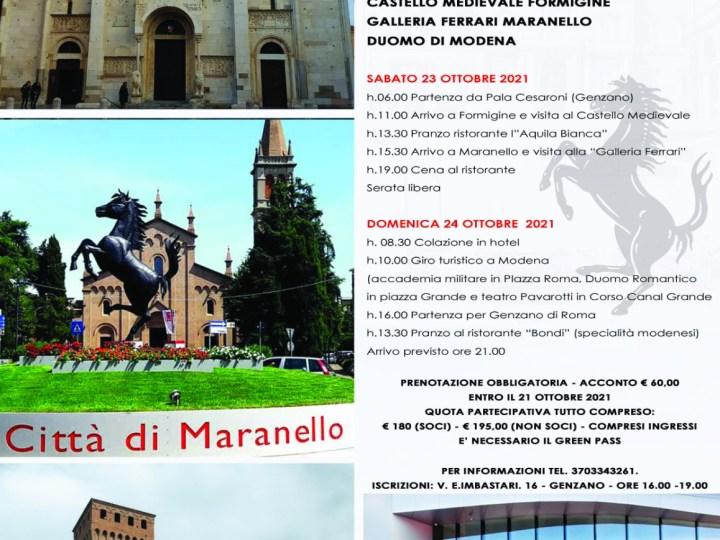 Genzano – Dopo il successo della mostra sulla Ferrari, l'Università Appia organizza gita a Maranello