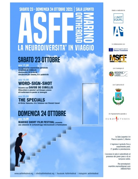 Marino, Asperger Film Festival alla Sala Lepanto: dal 23 ottobre con Davide De Cubellis