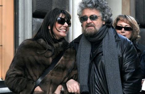 Parvin Tadjik la moglie di Beppe Grillo la pelliccia e
