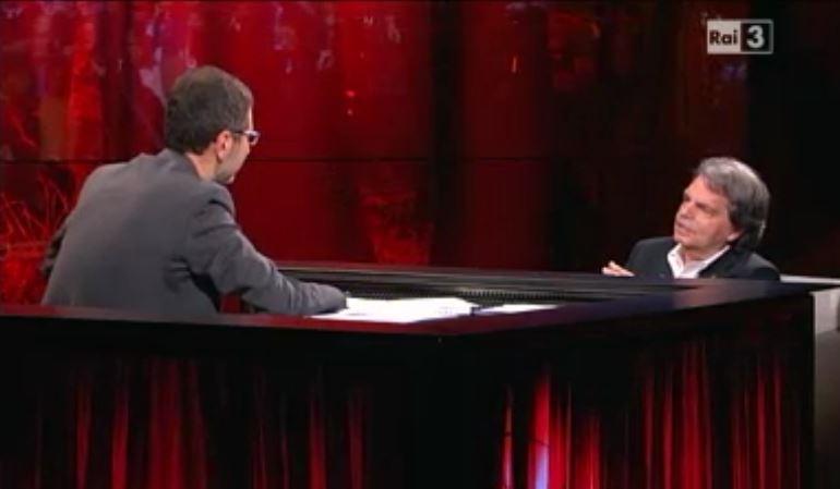 Fabio Fazio e Renato Brunetta durante l'ultima puntata di Che tempo che fa