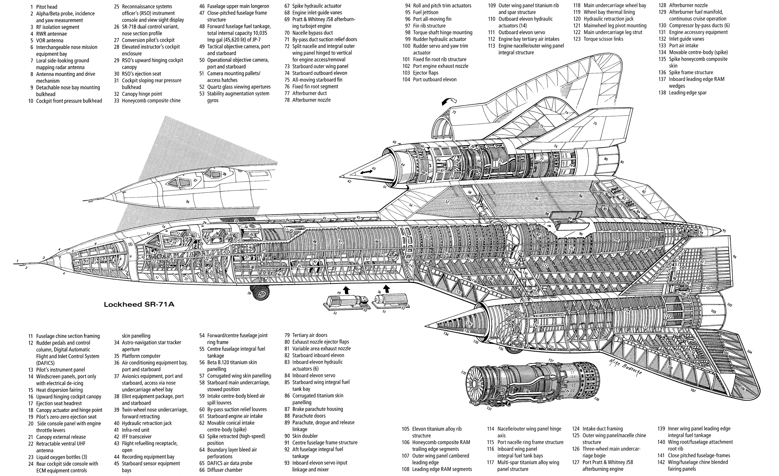Sr 71 Engine Cutaway, Sr, Free Engine Image For User