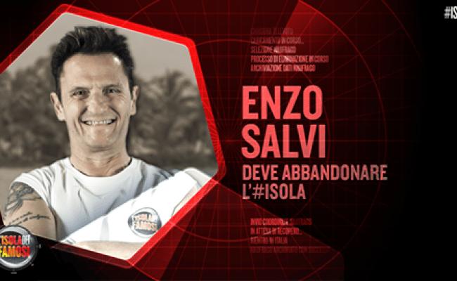 Enzo Salvi Lascia L Isola Dei Famosi 2016