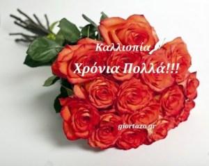Read more about the article Πέμπτη 8 Ιουνίου 2017. Σήμερα γιορταζουν οι:Καλλιόπη, Καλλιοπία, Κάλια, Κέλλυ,Πόπη,Ποπίτσα Πίτσα ,Ναυκράτιος, Ναυκράτης…..giortazo.gr