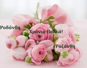 Παρασκευή 9 Ιουνίου 2017.Σήμερα γιορτάζουν οι:Ροδάνθη, Ροζάνθη…….giortazo.gr