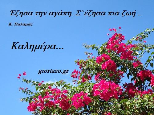100+- Καλημέρες σε όμορφες εικόνες με λόγια giortazo καλημέρα λόγια σε εικόνες Παλαμάς