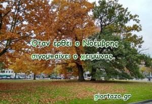 Read more about the article Παροιμίες για τον μήνα Νοέμβριο……giortazo.gr