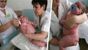 Το μωρό που γεννήθηκε 18 κιλά είναι το μεγαλύτερο σε όλο το κόσμο!