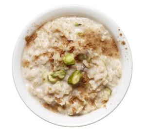 Πρωινό για επίπεδη κοιλιά Ρυζόγαλο με φιστίκια Αιγίνης