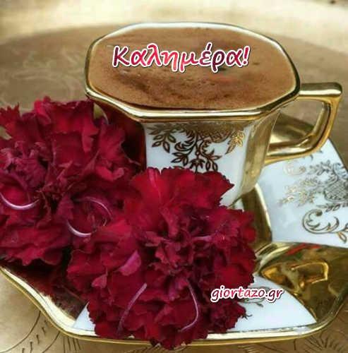 καφες κοκκινα λουλουδια