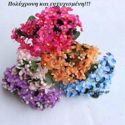 Πολύχρονη και ευτυχισμένη λουλούδια